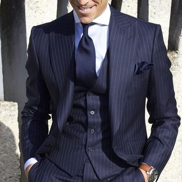 Men's Striped 3pc. Suit