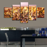 Beautiful Night View Wall Art Unframed 5 Panel prints