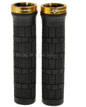 Rockbros Rubber Handlebar Lock-on Mtb Grips Fixed Gear Grips Black