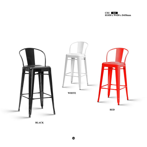Metal Bar Stool - CD2 - M&N Office Furniture Store