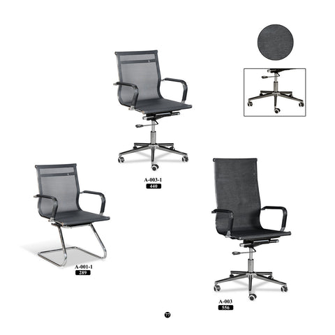 Meeting Chair - Black Mesh Series - M&N Office Furniture Store