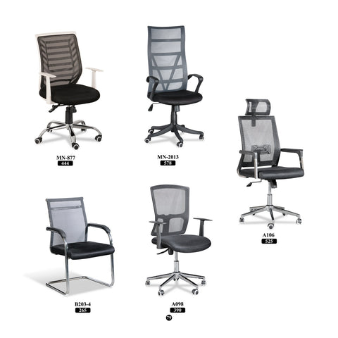 Mid / High back Mesh Chair - Black - M&N Office Furniture Store