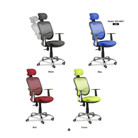High Back Executive Mesh Chair - MN-D817 - M&N Office Furniture Store