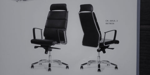 Leather Director Chair - CK-885A-3 - M&N Office Furniture Store