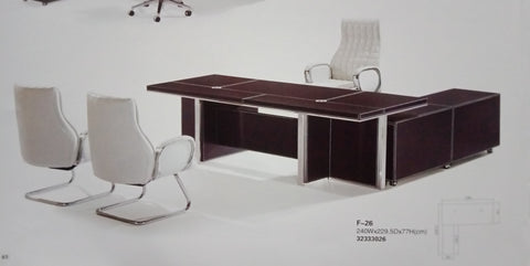 Director Table - Leather Series - F-26 - M&N Office Furniture Store