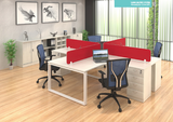 Workstation - Frameless Concept Cluster of 4 - Custom Made