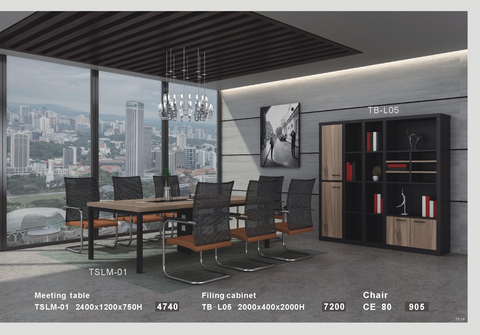 Meeting Table - TSLM-01 -Golden Walnut - M&N Office Furniture Store