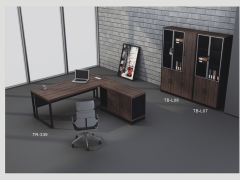 Director Table Set Package Deal - TR-339+TB-L07+L08 - M&N Office Furniture Store