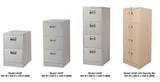 4 Drawer Filing Cabinet with Anti-Tilt - LX44PS C/W - M&N Office Furniture Store