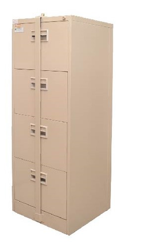4 Drawer Filing Cabinet - LX44P with Security Bar - M&N Office Furniture Store