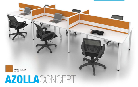 Workstation - Azolla Concept Cluster of 6 - Custom Made - M&N Office Furniture Store