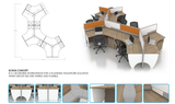 Workstation - Elodia Concept Cluster of 9 - Custom Made - M&N Office Furniture Store