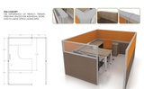 Office Partition - Itea Concept Cluster of 1 - Custom Made - M&N Office Furniture Store