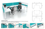 Workstation - Orontium Concept Cluster of 2 - Custom Made - M&N Office Furniture Store