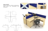 Workstation - Ottelia Concept Cluster of 4 - Custom Made - M&N Office Furniture Store