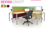 Workstation - Revina Concept Cluster of 4 - Custom Made - M&N Office Furniture Store