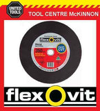 "5 X FLEXOVIT 350 x 3.8 x 25.4mm / 14"" REINFORCED METAL CUTING WHEEL FOR DEMO SAW"