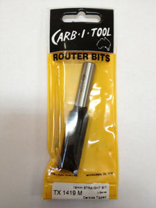 "CARB-I-TOOL / CARBITOOL TX 1419 M 19mm x ½"" LONG TCT STRAIGHT CUT ROUTER BIT"