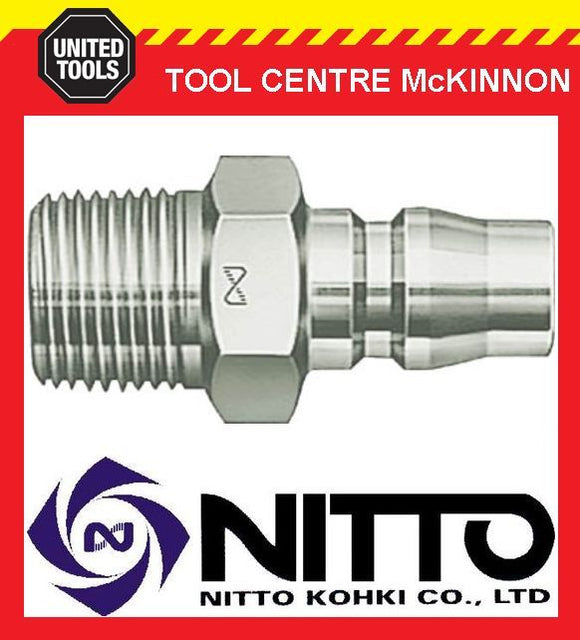"NITTO MALE COUPLING AIR FITTING WITH 3/8"" BSP MALE THREAD (30PM) – JAPAN MADE"