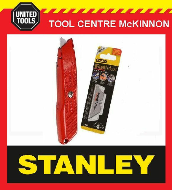 STANLEY SELF RETRACTING KNIFE WITH BONUS BLADES – 6 BLADES!