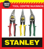 STANLEY FATMAX 3 PIECE AVIATION TIN SNIPS SET - STRAIGHT, LEFT & RIGHT CUT