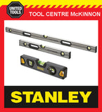 STANLEY FATMAX PRO BOX 23cm, 2ft / 600mm & 4ft / 1200mm SPIRIT LEVEL TRIPLE PACK
