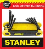 STANLEY 9pce IMPERIAL FOLD UP HEX ALLEN KEY SET