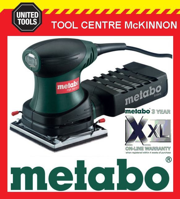 METABO FSR 200 INTEC 200W 1/4 SHEET ORBITAL PALM SANDER