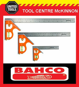 BAHCO CS150, CS300 & CS400 3pce COMBINATION SQUARE PACK – 150mm, 300mm & 400mm