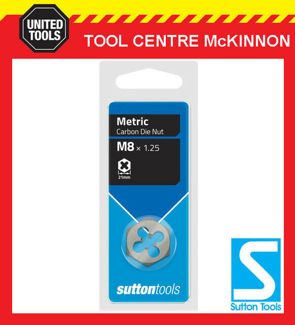 SUTTON M9 x 1.25mm METRIC CARBON DIE NUT / THREAD CLEANER RESTORER