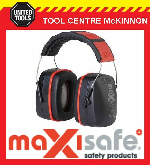 MAXISAFE 3004 RED CLASS 5 32dB AS/NZS 1270:1999 EAR MUFFS – MADE IN GERMANY