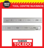 FAMOUS TOLEDO 600M 600mm STAINLESS STEEL SINGLE SIDED METRIC RULE