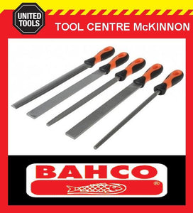 "BAHCO ERGO 5pce 10"" / 250mm ENGINEERS FILE SET WITH POUCH - 1-478-10-1-2"