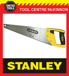 "STANLEY HAND SAW SHARPCUT  500mm / 20"" 11tpi 12pt FINE CUT SAW – MADE IN BELGUIM"