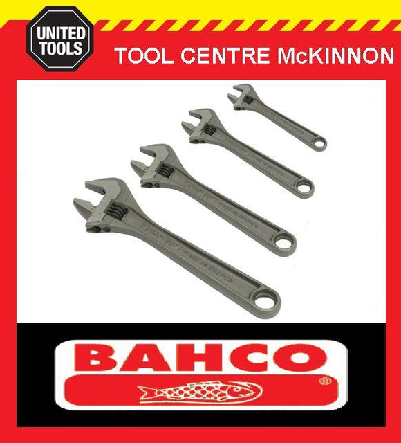 BAHCO 80 SERIES 4pce PHOSPHATED ADJUSTABLE WRENCH SHIFTER SET – 4, 6, 8 & 10""
