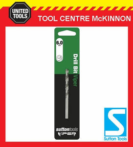 SUTTON VIPER 6.0mm HSS METRIC JOBBER DRILL BIT – WOOD, METAL & PLASTIC