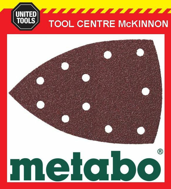 10 x METABO #120 GRIT 100mm x 150mm MULTISANDER SAND PAPER PADS – SUIT FMS200