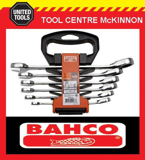 BAHCO 1RM/SH6 6pce RATCHET COMBINATION GEAR RING & OPEN END WRENCH SPANNER SET