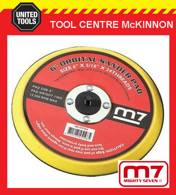 "M7 MIGHTY SEVEN AIR SANDER 6-HOLE REPLACEMENT 6"" / 150mm BASE / PAD"