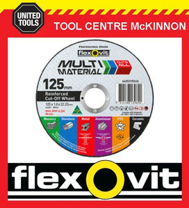 "10 x FLEXOVIT 125mm / 5"" MULTI MATERIAL CUT-OFF WHEEL – CUTS JUST ABOUT ANYTHING"