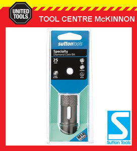 SUTTON 25mm DIAMOND CORE HOLESAW FOR TILES PORCELAIN & BRICK – SUIT M14 GRINDER