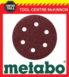 10 x METABO #120 GRIT 80mm 6 HOLE SAND PAPER DISCS / PADS – SUIT SXE400