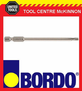 BORDO TR20 X 100mm SECURITY TORX POWER INSERT SCREWDRIVER BIT
