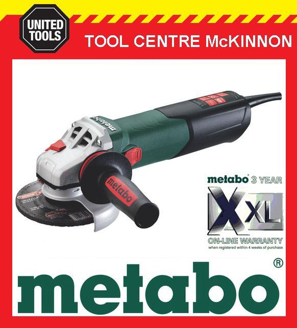 "METABO WEA17-125Q 5"" 125mm 1700W ANGLE GRINDER WITH QUICK NUT – MADE IN GERMANY"