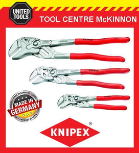 KNIPEX 3pce ADJUSTABLE PLIERS WRENCH SET– 8603180, 8603250 & 8603300
