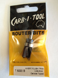 "CARB-I-TOOL T 8220 B 15.9mm x ¼"" CARBIDE TIPPED INVERTED FLUSH TRIM ROUTER BIT"