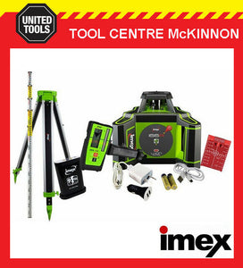 IMEX i66RK RED ROTATING LASER LEVEL KIT – DIGITAL RECEIVER TRIPOD & STAFF