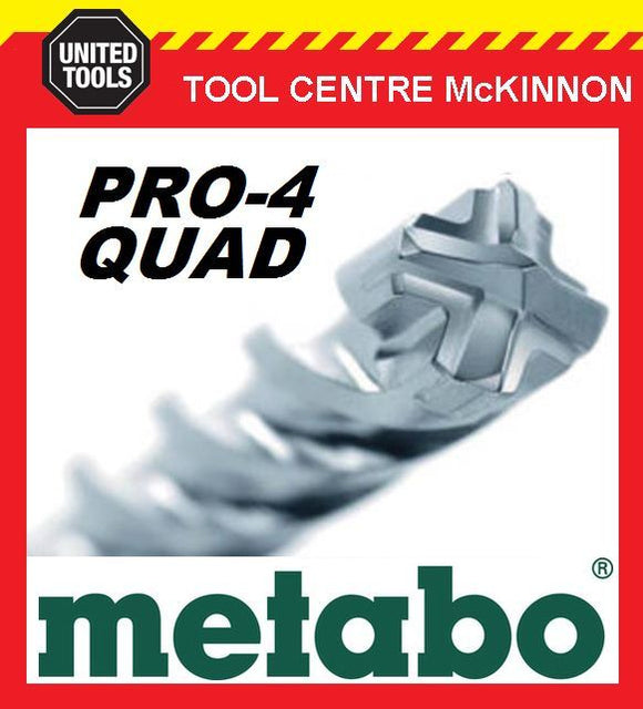 METABO 35.0 x 450 x 570mm SDS MAX PRO-4 QUAD HAMMER DRILL BIT – MADE IN GERMANY