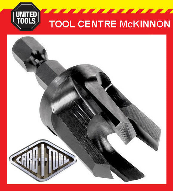 "CARB-I-TOOL / CARBITOOL HPLG TIMBER PLUG CUTTERS WITH ¼"" HEX SHANK - ALL SIZES"