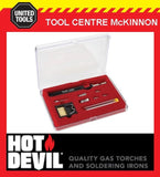 HOT DEVIL HT1937K 9 IN 1 SLIMLINE BUTANE GAS MICRO BLOW TORCH & SOLDERING KIT